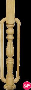 نرده یک سر چهارگوش فانوسی ۷×۷